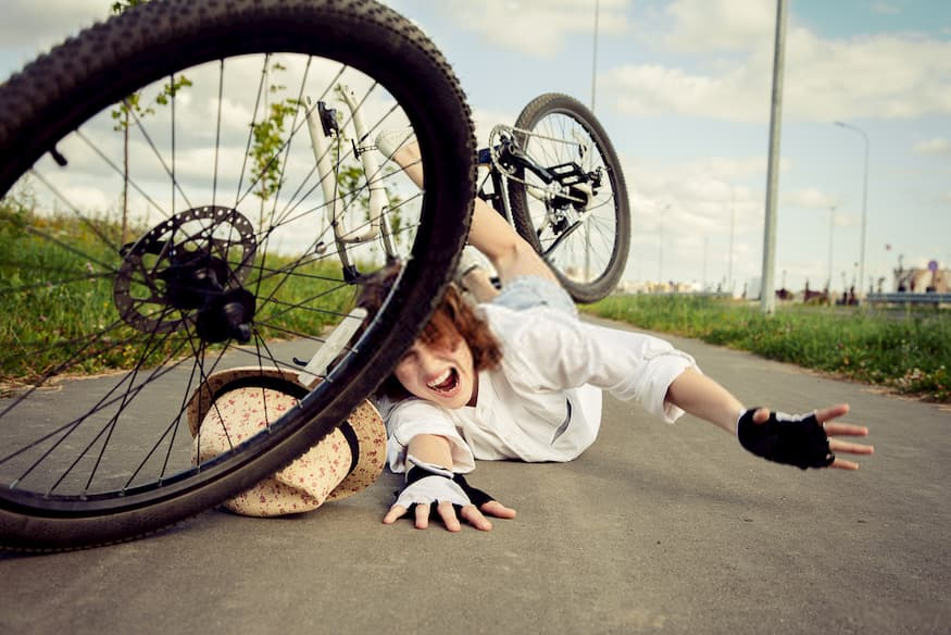 Caída bicicleta abogado