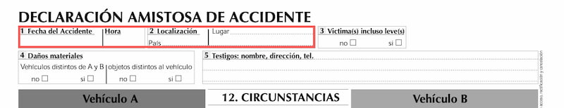como rellenar parte amistoso de accidente